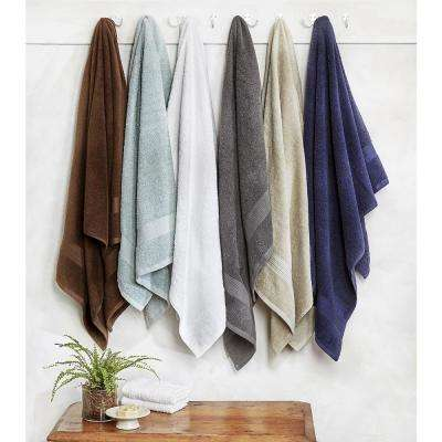 Blissful Living 8-Piece 100% Cotton Bath Towel Set in Taupe