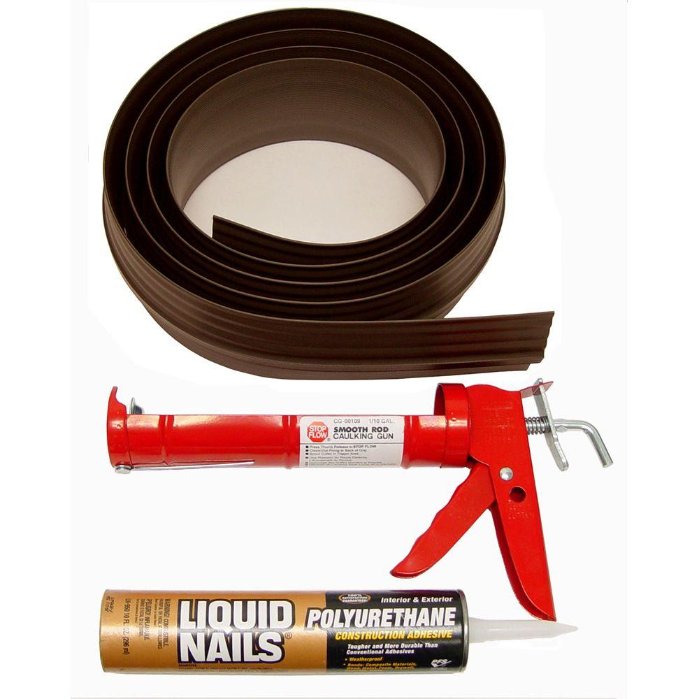 Tsunami Seal 10 ft. Brown Garage Door Threshold Kit
