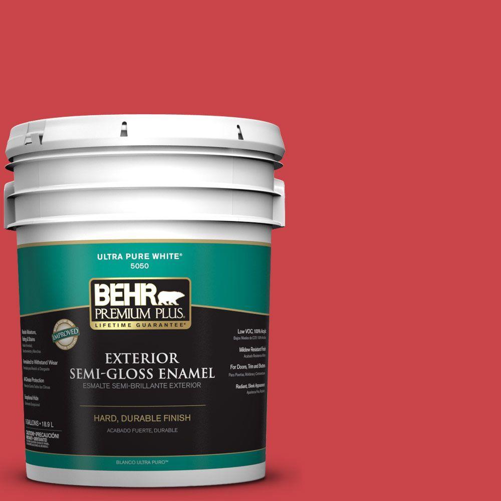 5-gal. #P150-6 Whip Lash Semi-Gloss Enamel Exterior Paint