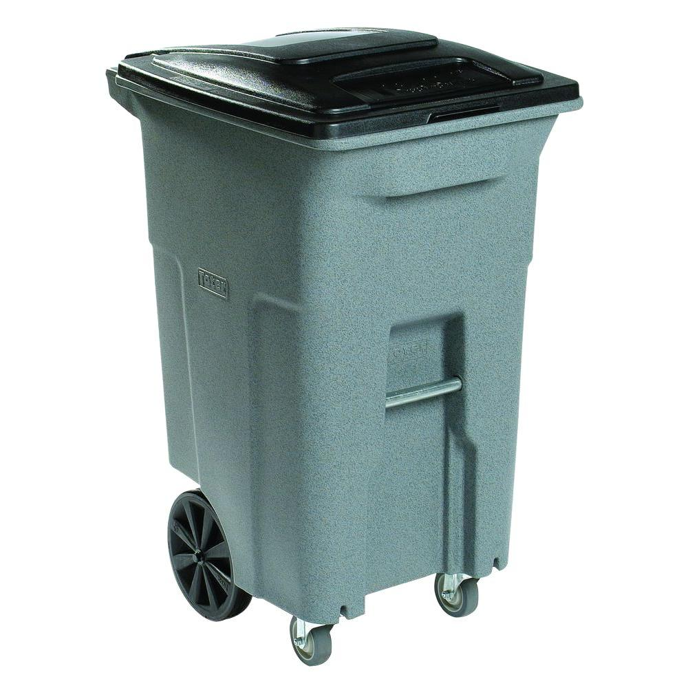 Toter 64 Gal Grey Wheeled Trash Can with Casters ACC64