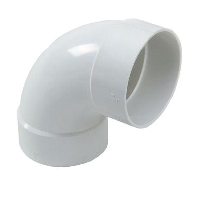 4 in. PVC Sewer and Drain 90° Hub x Hub Elbow