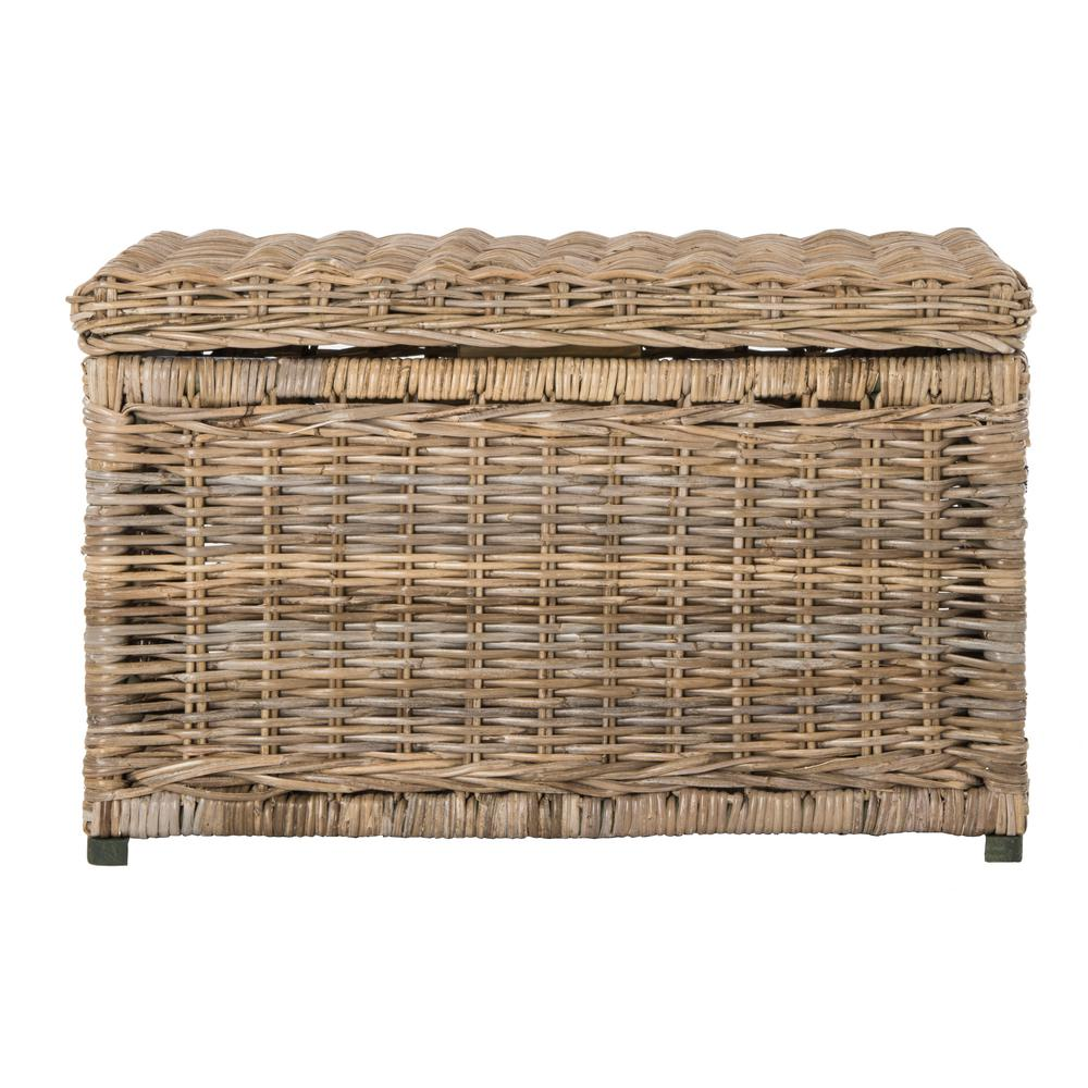 Natural Wicker Storage Trunk  sc 1 st  The Home Depot & happimess Elijah 30 in. Natural Wicker Storage Trunk-HPM9002B - The ...