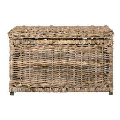 Elijah 30 in. Natural Wicker Storage Trunk