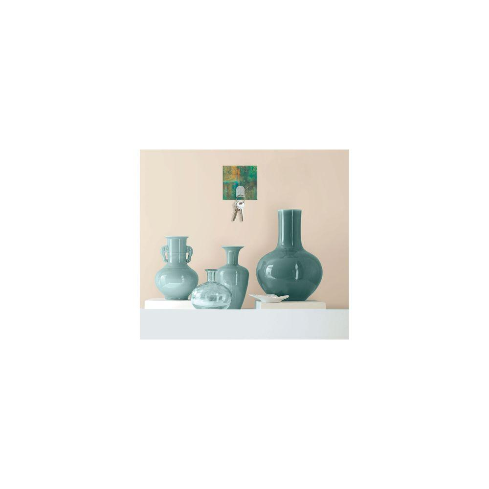 RoomMates 2.875 in. Teal Motif Magic Hook Wall Graphic
