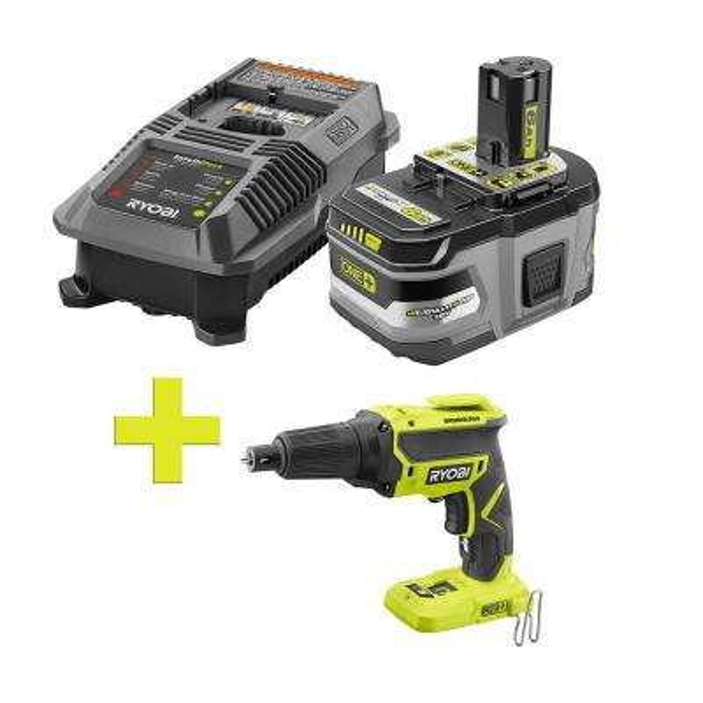 18-Volt ONE+ Lithium-Ion LITHIUM+ HP 6.0 Ah Starter Kit w/ Bonus ONE+ Brushless Drywall Screw Gun