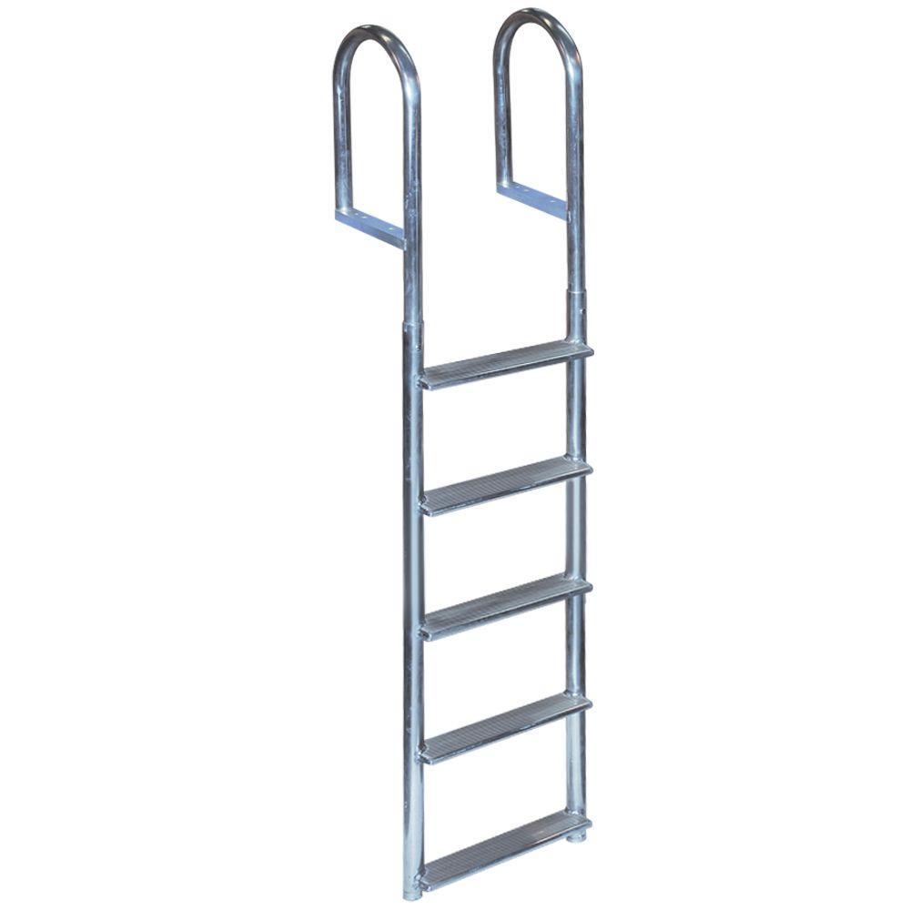 5-Step Wide Rung Aluminum Dock Ladder