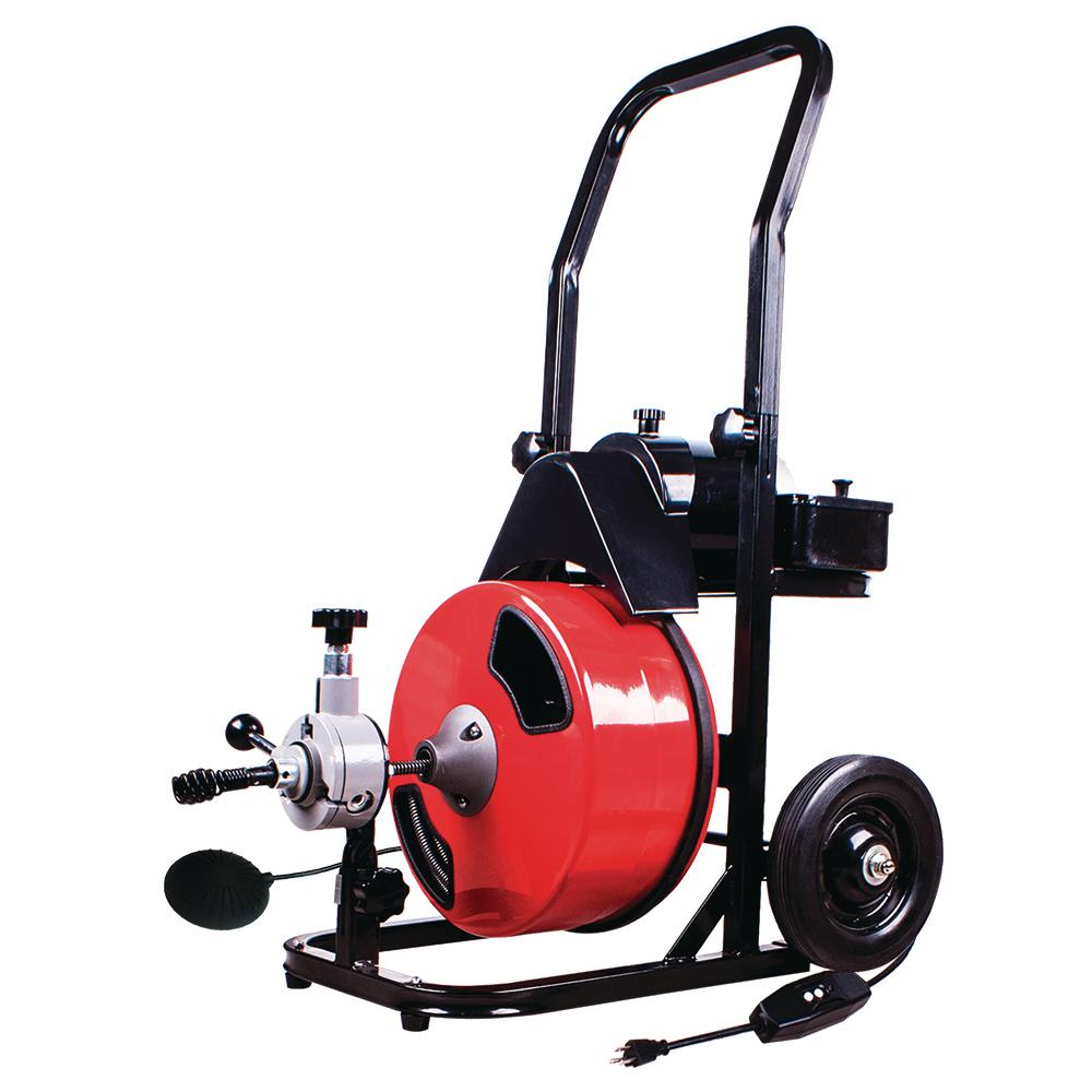 THEWORKS 1/2 in. x 50 ft. Power Feed Drain Cleaner Machine