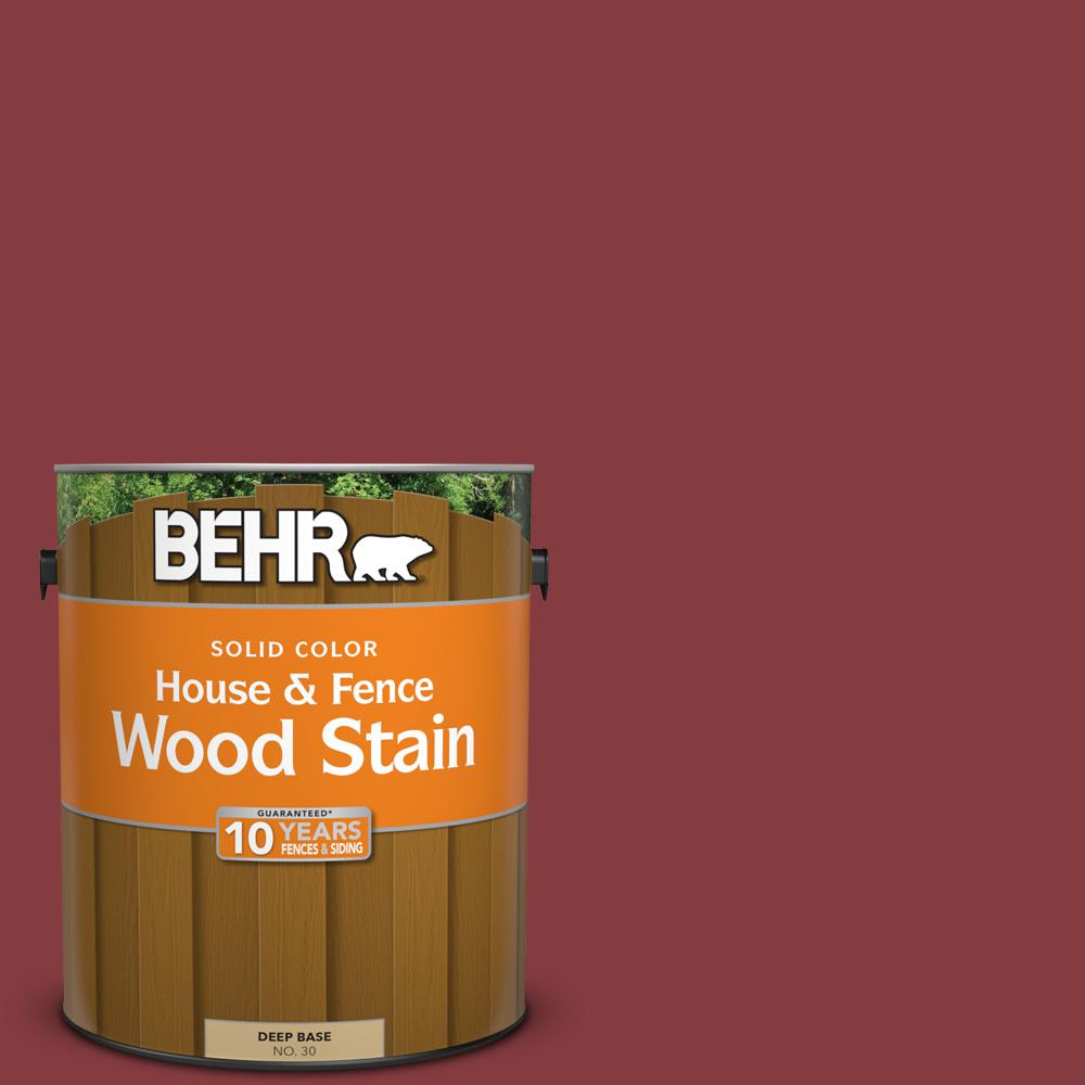 1 gal. #M140-7 Dark Crimson Solid House and Fence Wood Stain