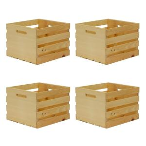 """ROUGH SAWN PINE WOODEN CRATE ~18 X 12 X 12/"""""""