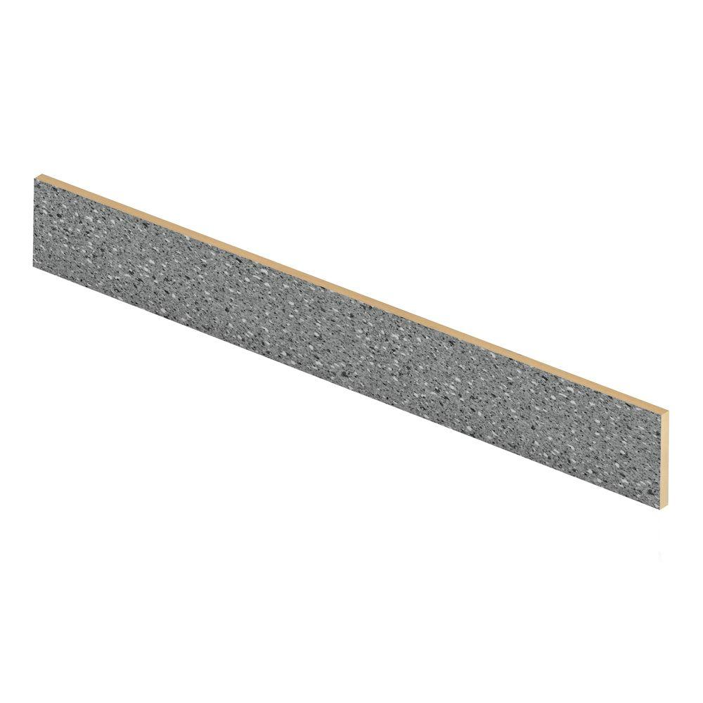 Cap A Tread Confetti Dark Grey 47 in. Long x 1/2 in. Deep x 7-3/8 in. Height Vinyl Riser to be Used with Cap A Tread