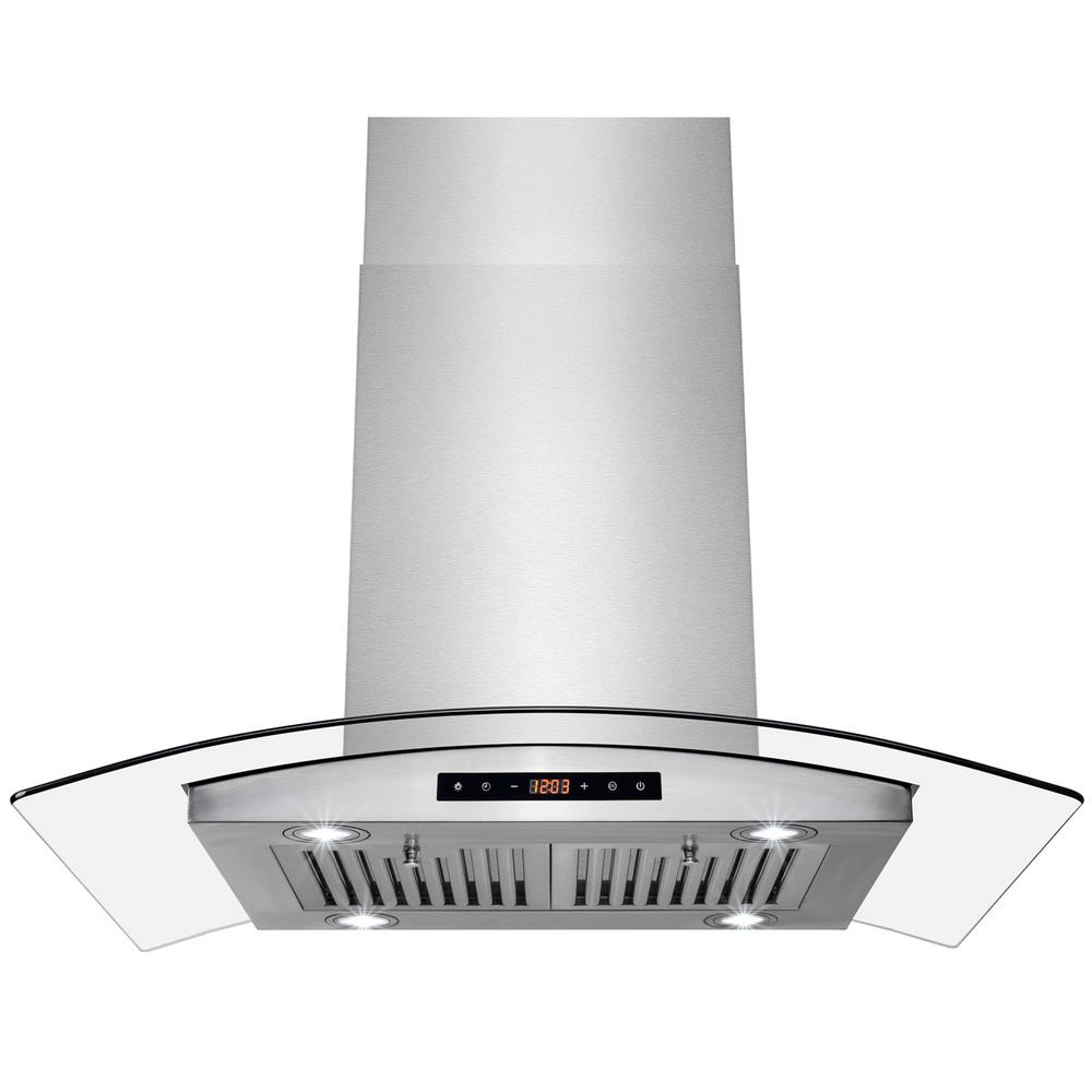 36 in. Island Mount Kitchen Range Hood with Dual Side Touch