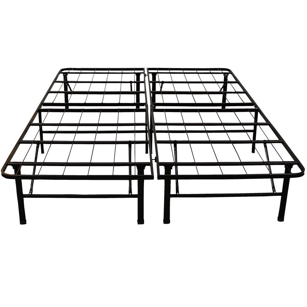 hercules full-size 14 in. h heavy duty metal platform bed frame