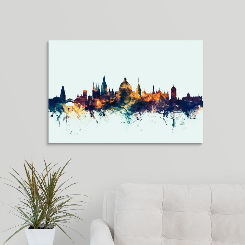 """Oxford England Skyline"" by Michael Tompsett Canvas Wall Art"