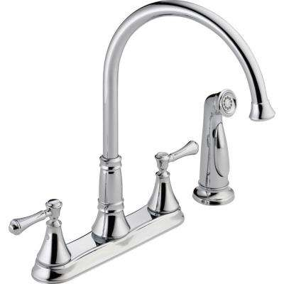Cassidy 2-Handle Standard Kitchen Faucet with Side Sprayer in Chrome
