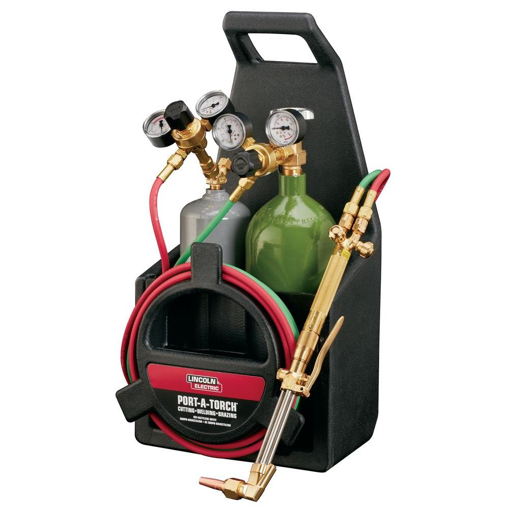 Lincoln Electric Port-A-Torch Kit with Oxygen and Acetylene Tanks ...