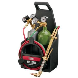 Lincoln Electric Port-A-Torch Kit with Oxygen and Acetylene Tanks and 3/16  in  x 12 ft  Hose, for Cutting Welding and Brazing-KH990 - The Home Depot