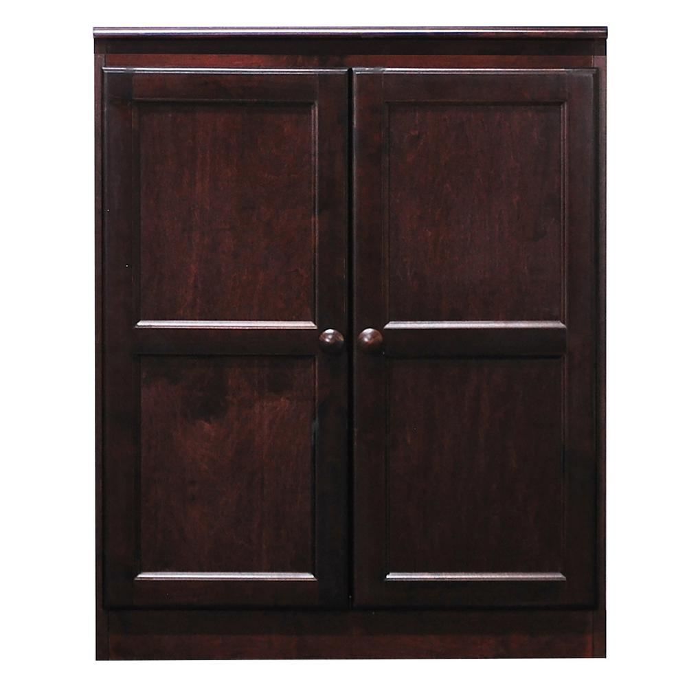 Concepts In Wood Cherry Multi-Use Storage Pantry, Reddish...