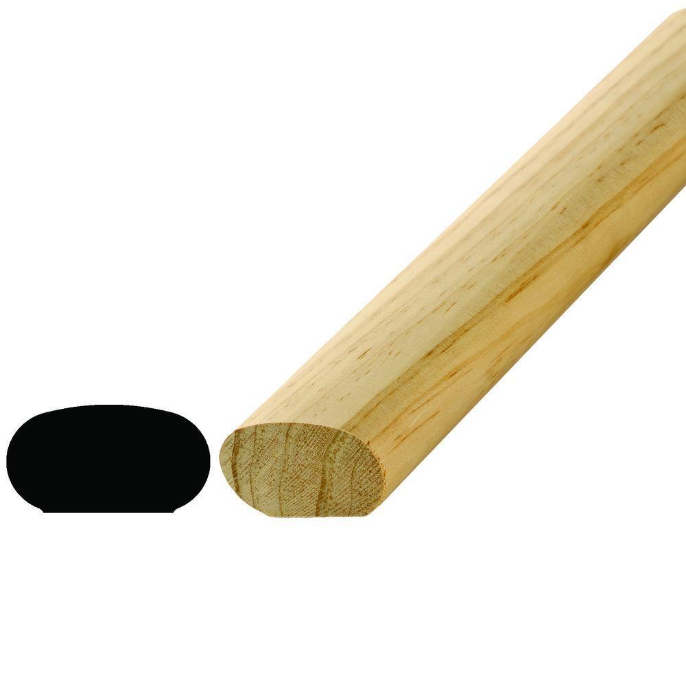 WM 240 1-1/4 in. x 2-1/4 in. x 96 in. Pine Handrail Moulding