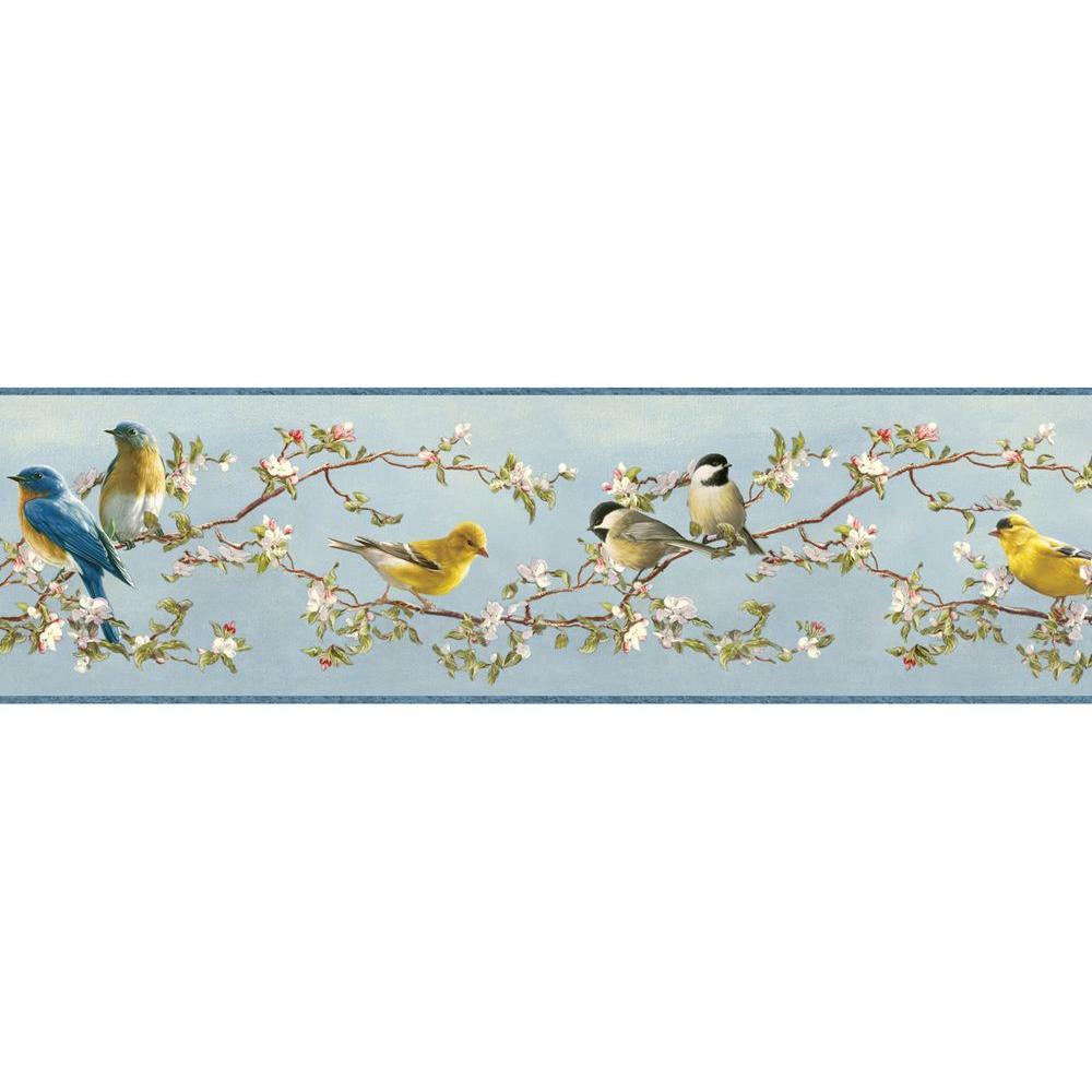 Chesapeake Vandalia Songbird Wallpaper Border-TLL48511B - The Home Depot