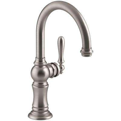 Artifacts Swing Spout Single-Handle Standard Kitchen Faucet in Vibrant Stainless
