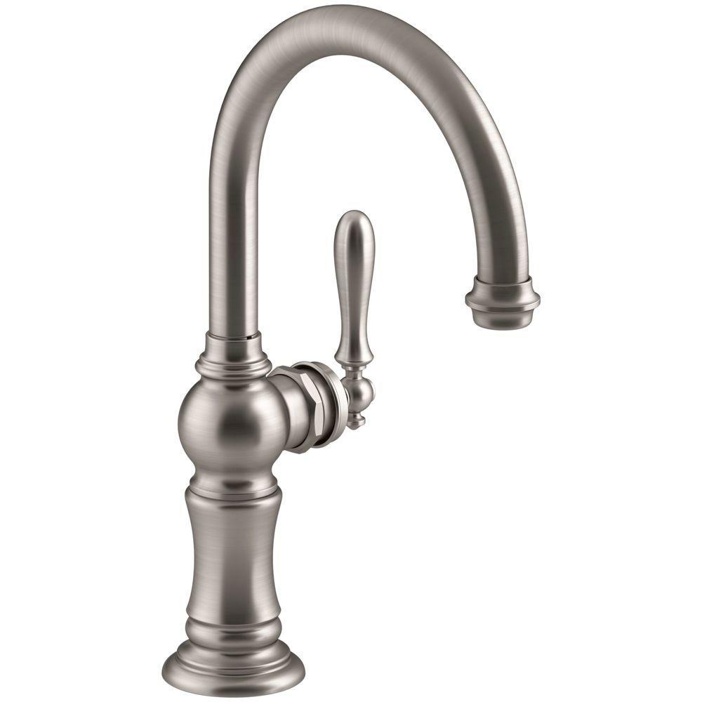 KOHLER Artifacts Swing Spout Single-Handle Standard Kitchen Faucet ...