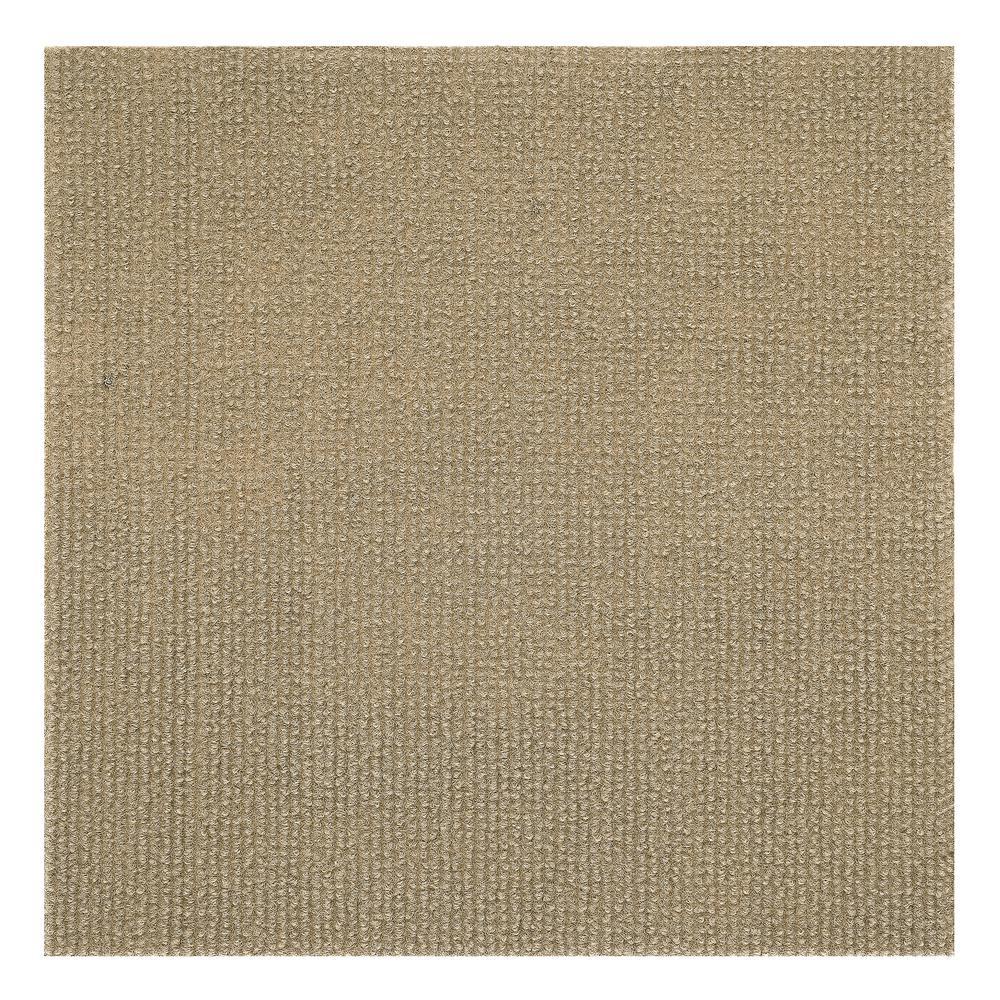 Achim Nexus Tan 12 in. x 12 in. Peel and Stick Carpet Til...