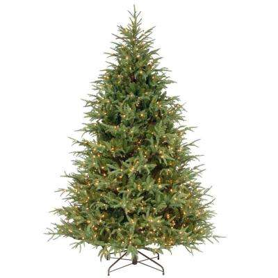 7.5 ft. Frasier Grande Artificial Christmas Tree with Clear Lights