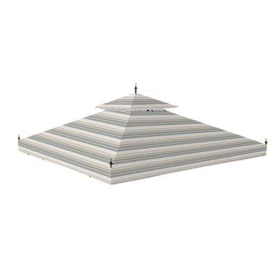 Standard 350 Stripe Stone Replacement Canopy for 10 ft. x 10 ft. Arrow Gazebo
