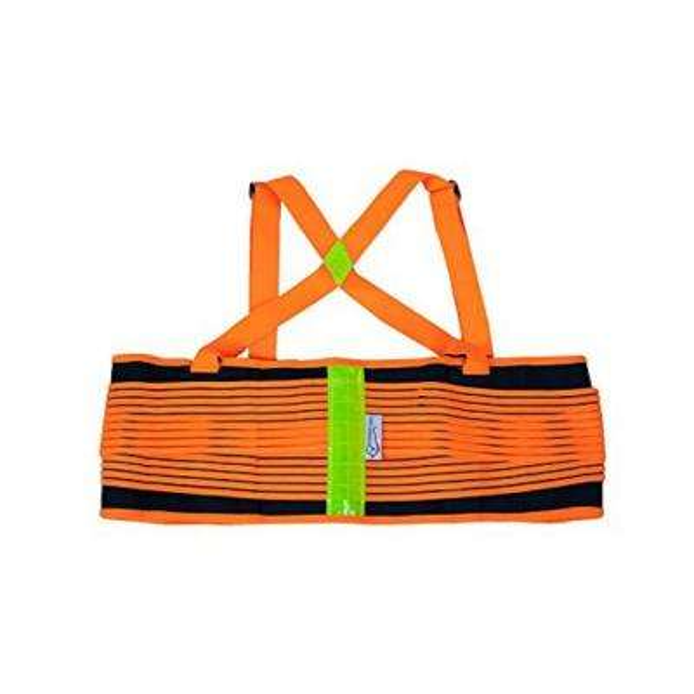 Safety Lift Belt -Lifting Support Weight Belt - Orange & Black Reflective