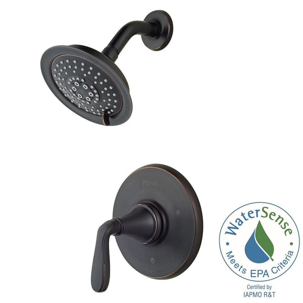 Northcott Single-Handle Shower Faucet Trim Kit in Tuscan Bronze (Valve Not