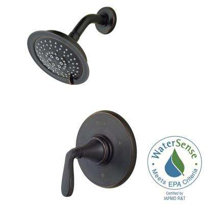 Northcott Single-Handle Shower Faucet Trim Kit in Tuscan Bronze (Valve Not Included)