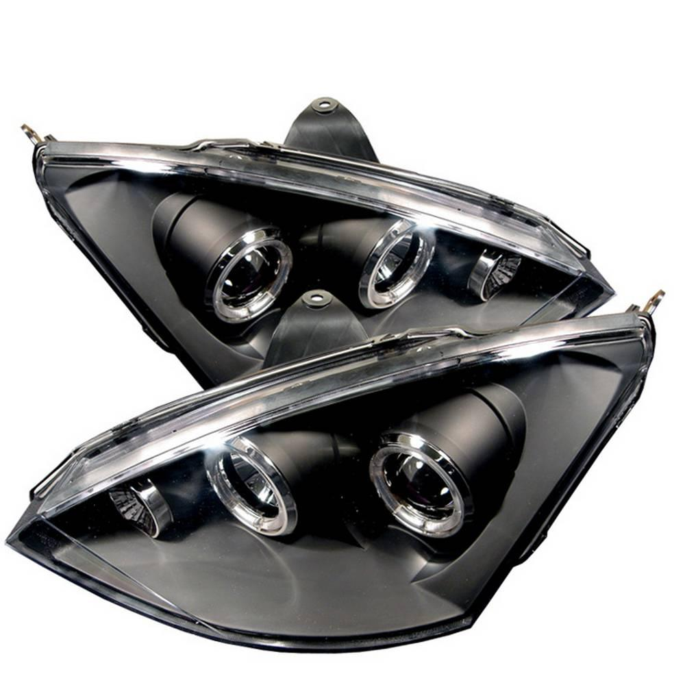 Ford Focus 00 04 Projector Headlights Do Not Fit Svt Model Led Halo Black