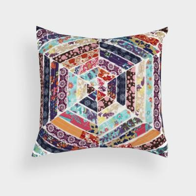 Honeycomb Multicolored Animal Print Down Alternative 18 in. x 18 in. Throw Pillow