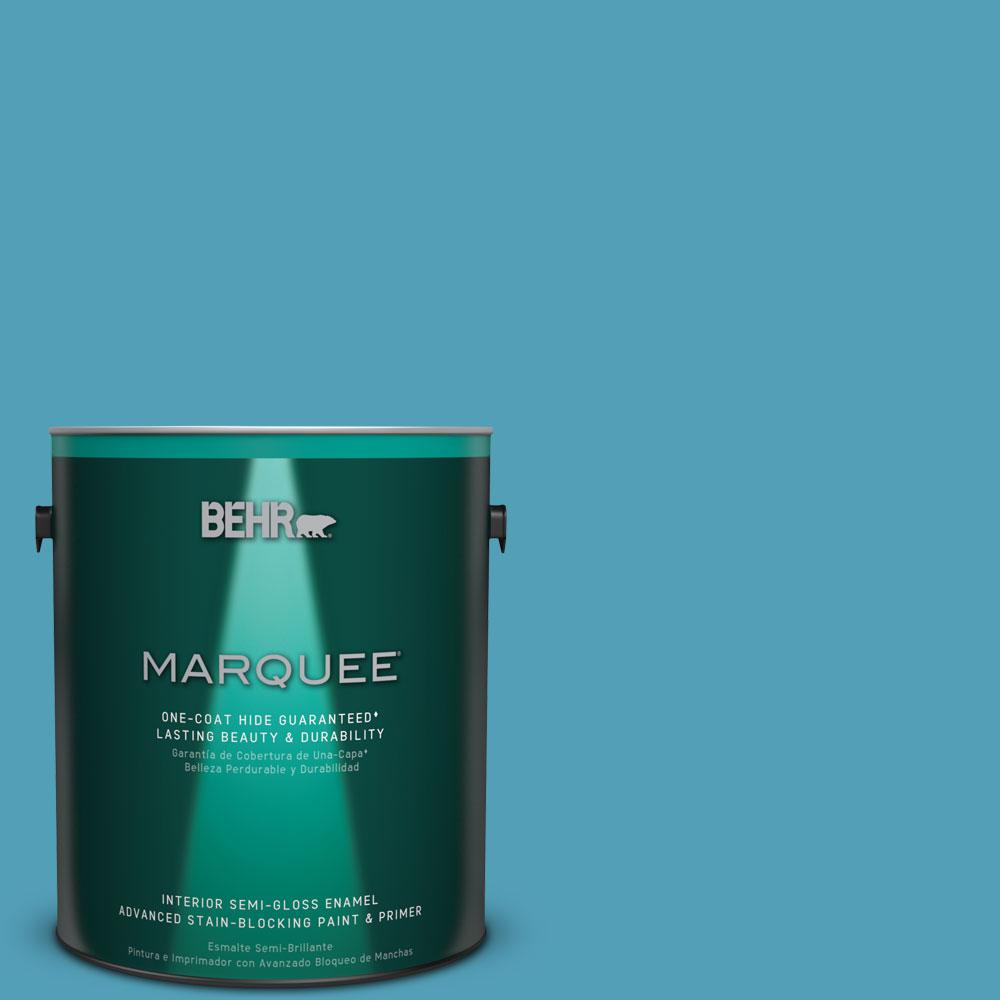 1 gal. #M480-5 Eskimo One-Coat Hide Semi-Gloss Enamel Interior Paint