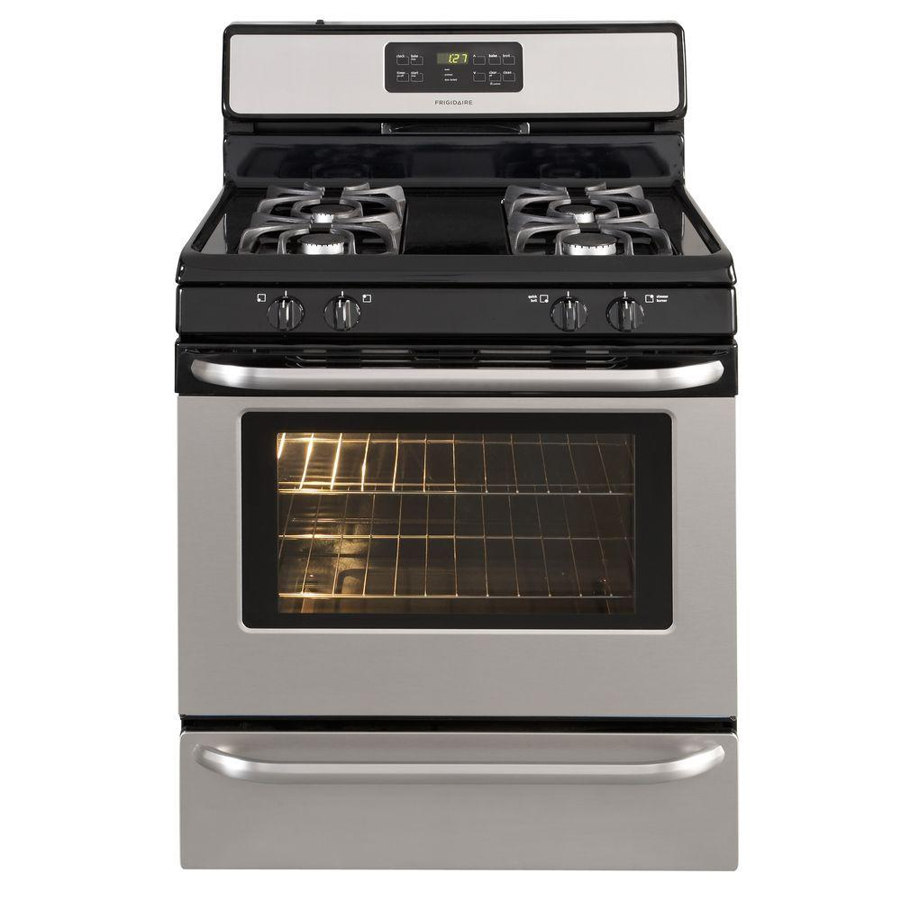 Frigidaire 5 cu. ft. Gas Range with Self-Cleaning Oven in Stainless Steel