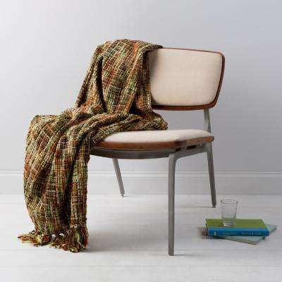 Vernier Dark Green Acrylic Throw