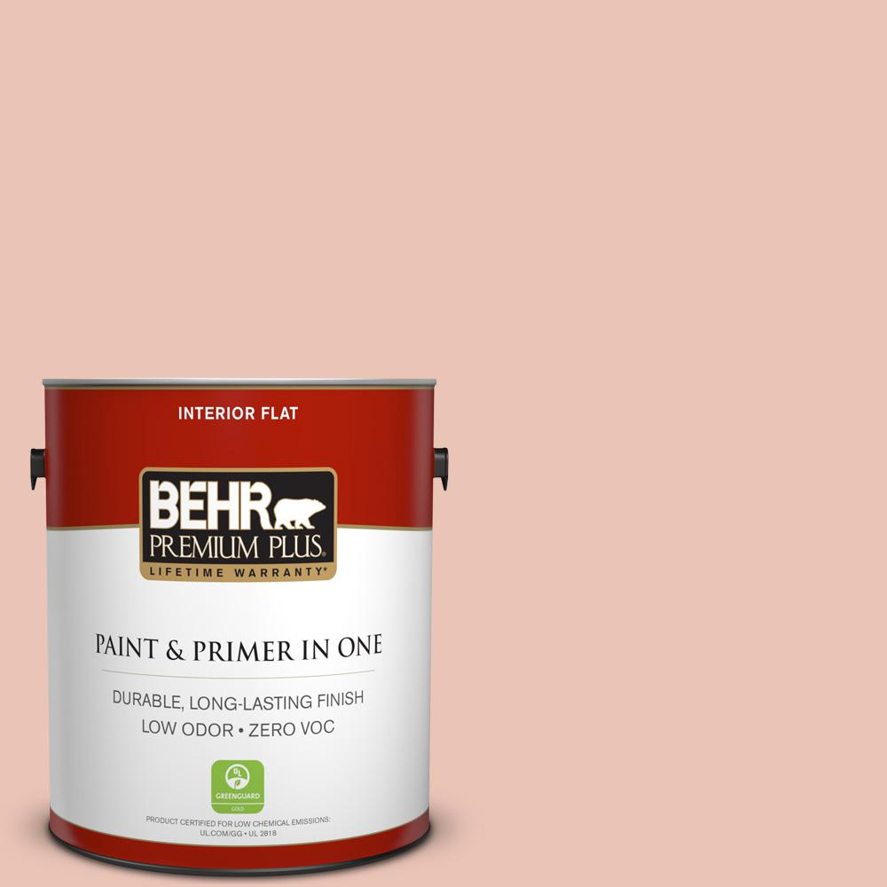 BEHR Premium Plus Home Decorators Collection 1-gal. #HDC-CT-14 Coral Coast Zero VOC Flat Interior Paint
