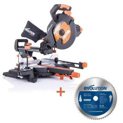 Chop Saw Evolution Multipurpose Electric Compound Mitre Wood Cutting Metal Blade