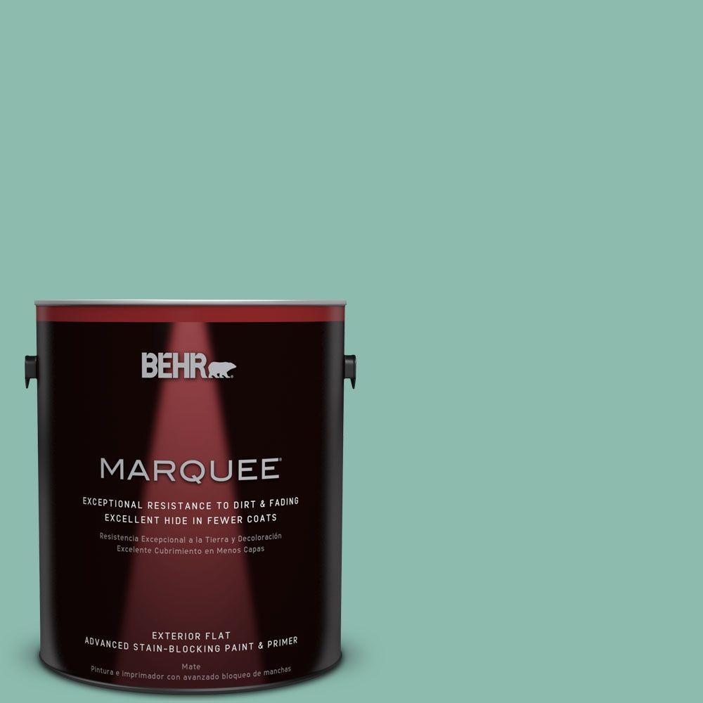BEHR MARQUEE 1-gal. #MQ6-37 Mild Evergreen Flat Exterior Paint
