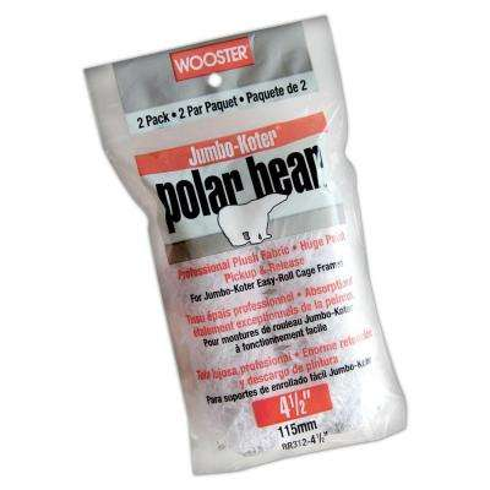 4-1/2 in. Polar Bear High Capacity Plush Roller (2-Pack)