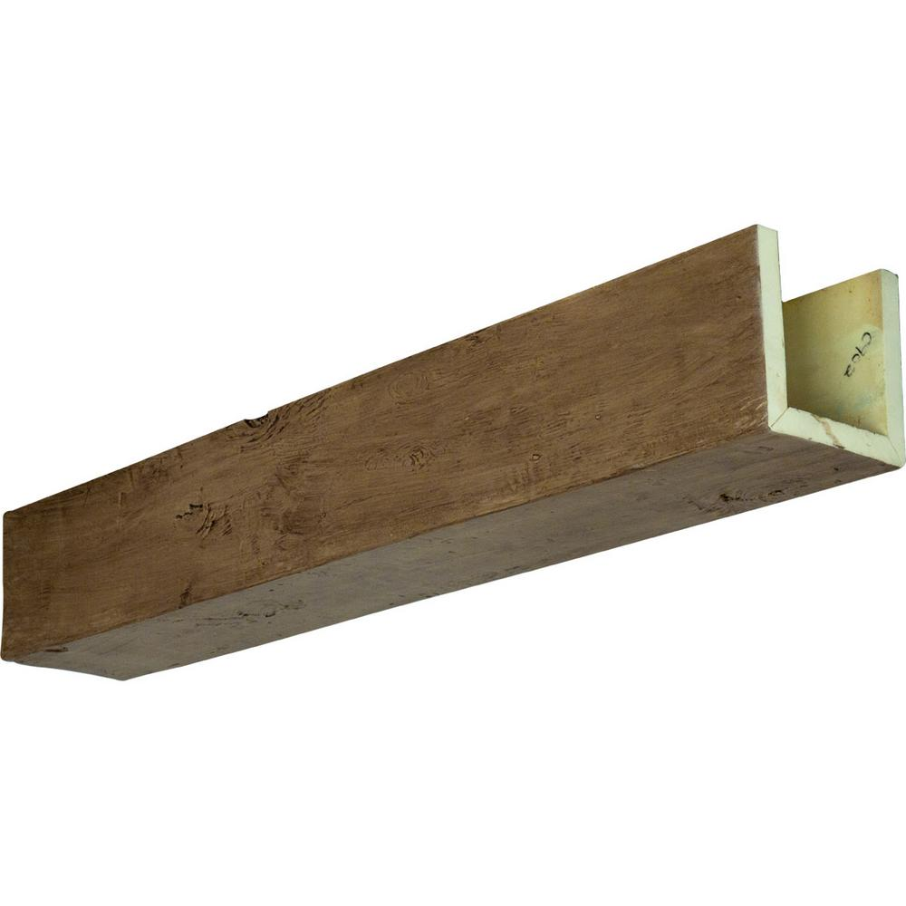 Ekena Millwork 8 In X 6 In X 24 Ft 3 Sided U Beam Knotty Pine Natural Golden Oak Faux Wood Ceiling Beam Bmkp3c0060x080x288ng The Home Depot