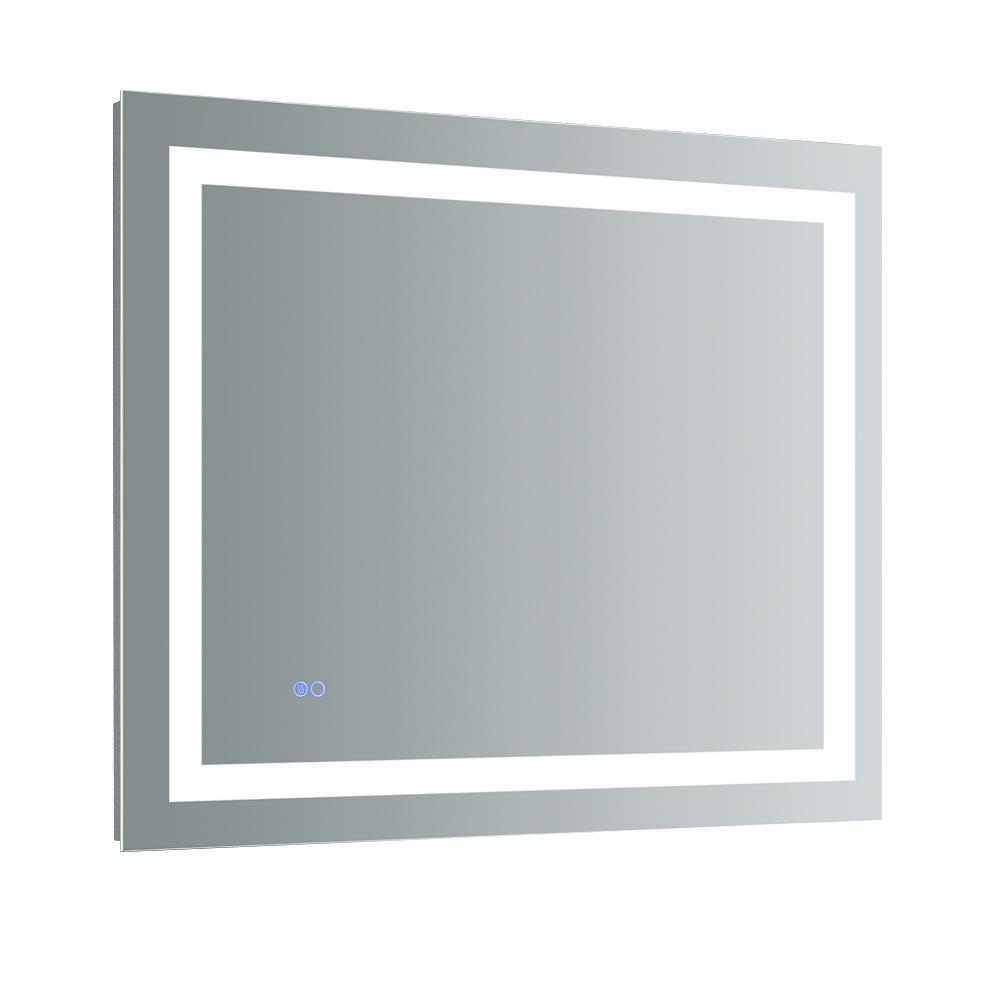 Fresca Santo 36 in. W x 30 in. H Frameless Single Bathroom Mirror ...