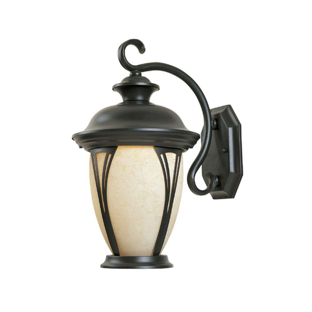 Thatcher Collection 2-Light Bronze Outdoor Wall-Mount Lantern
