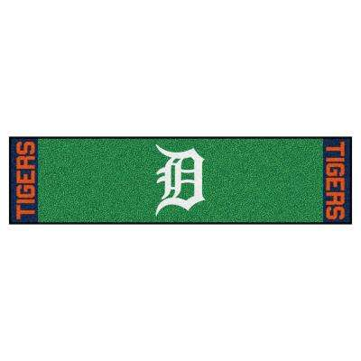 MLB Detroit Tigers 1 ft. 6 in. x 6 ft. Indoor 1-Hole Golf Practice Putting Green
