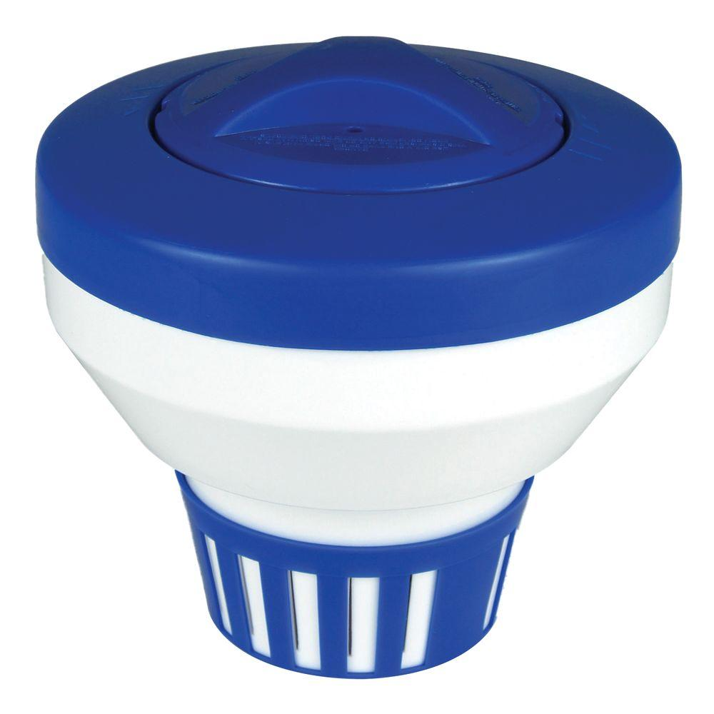 Hdx floating chlorine dispenser 62155 the home depot Proper chlorine levels in swimming pools