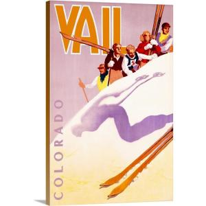 """""""Vail Colorado Vintage Advertising Poster"""" by ArteHouse Canvas Wall Art"""