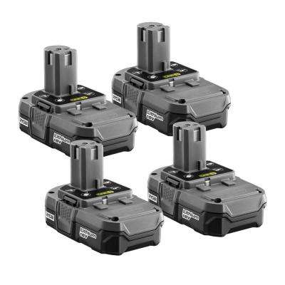 18-Volt ONE+ Lithium-Ion Compact Battery Pack 1.3Ah (4-Pack)