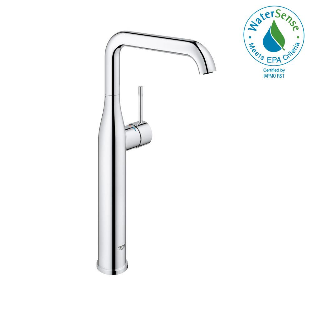 Essence New Single Hole Single-Handle Bathroom Faucet in StarLight Chrome