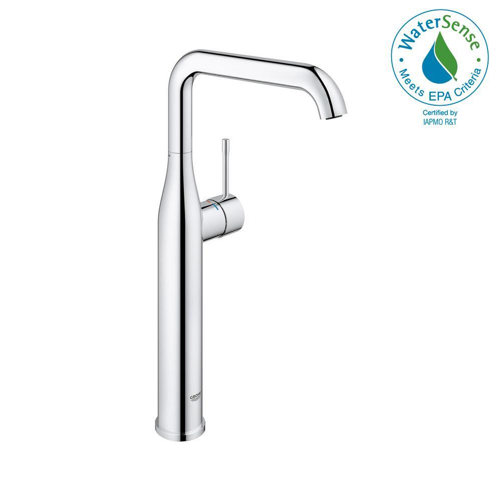 Essence New Single Hole Single-Handle Bathroom Faucet in StarLight Chrome