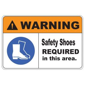 Rectangular Plastic Warning Safety Shoes Safety Sign by